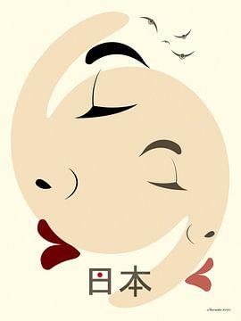 Japan von Ton van Hummel (Alias HUVANTO)