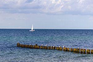 Blick auf den Strand an der Ostsee bei Kühlungsborn