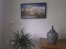 Klantfoto: Strand van Ameland van Karel Pops, op canvas