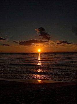 Sunset van Harrie van der Meer