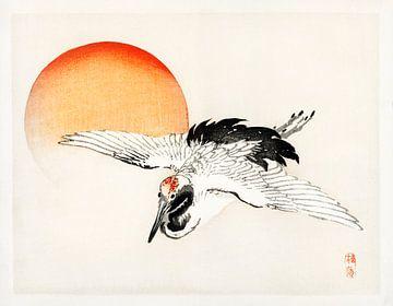 Fliegende Rauchschwalbe von Kōno Bairei von Studio POPPY