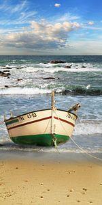 Das Fischerboot am Strand von