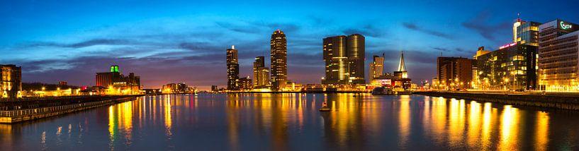 Panorama Rijnhaven Rotterdam van Peet de Rouw