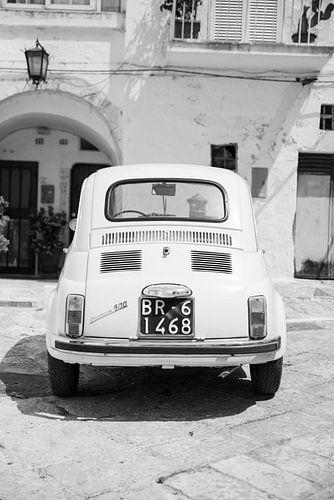 Fiat 500 zwart-wit | Italië | Fine art