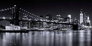 Night-Skylines NEW YORK III bw