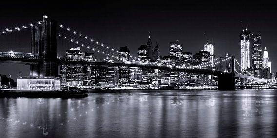 Night-Skylines NEW YORK III bw van Melanie Viola