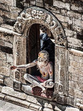 Sadu in Kathmandu, Nepal 7 van Jan van Reij