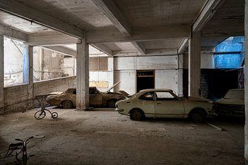 Verlaten Auto's Nicosia. van