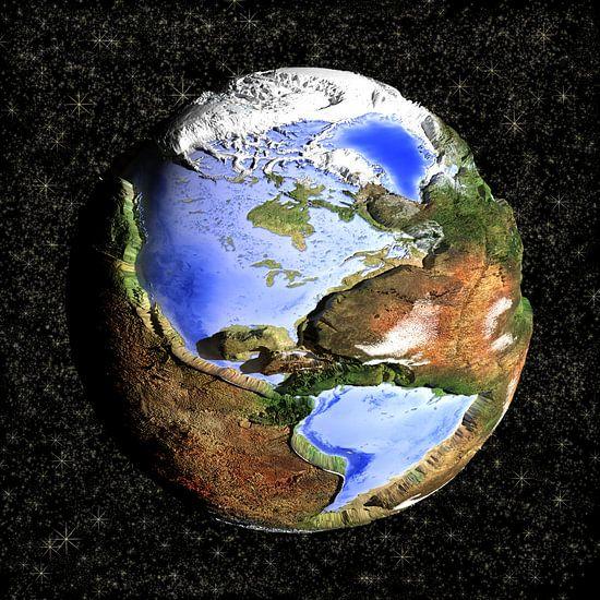 De omgekeerde wereld, cartoon - Amerika  van Frans Blok