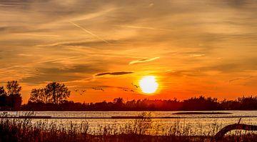 Zonsondergang von Jos Groen