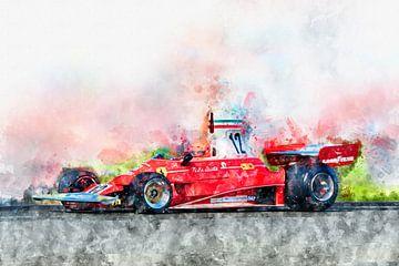Niki Lauda, Ferrari No.12 von Theodor Decker