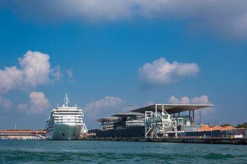 Blick auf den Kreuzfahrthafen in Venedig, Italien von Rico Ködder