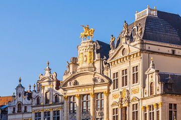 Gildehäuser am Grand-Place in Brüssel von Werner Dieterich