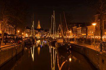 Hoge en Lage der A in Groningen tijdens WinterWelVaart von Harry Kors