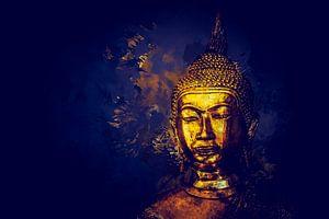 Golden Buddha splatter Painting N.1
