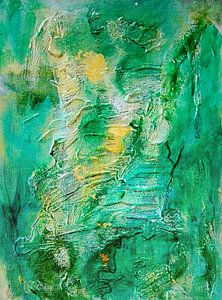 Green and Gold Abstract van
