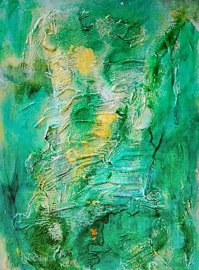 Green and Gold Abstract