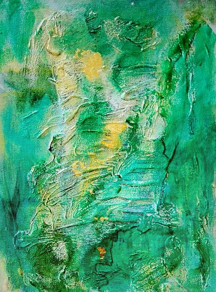 Green and Gold Abstract von mimulux patricia no
