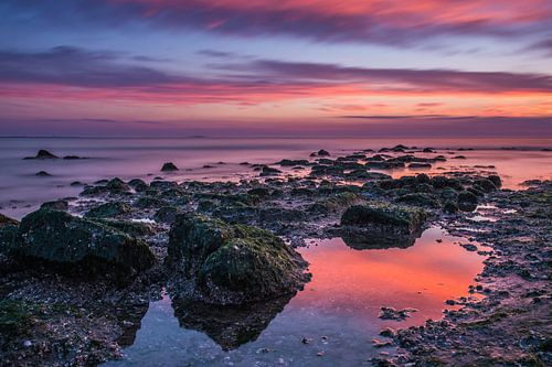 Het strand met magisch licht van Marco Schep