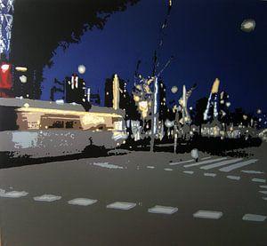 Tram in Rotterdam  van