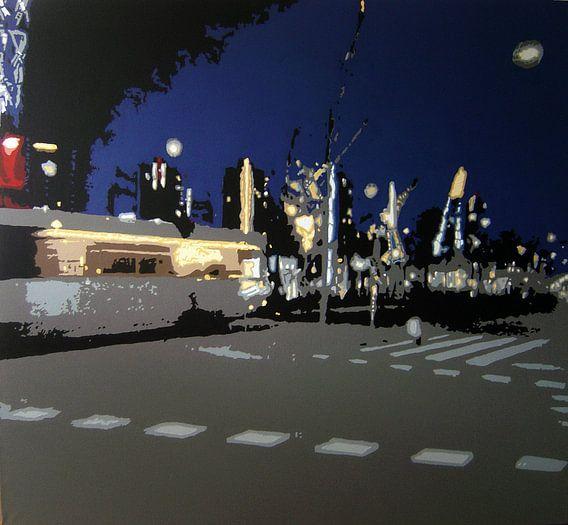 Tram in Rotterdam  van Larissa Beentjes