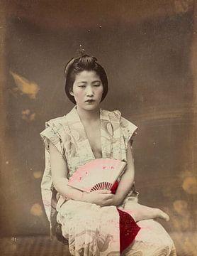 Porträt, Frau, Vintage, Japan, 1800er