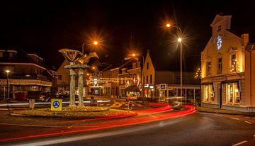 Avondfoto van Simpelveld in kerstsfeer