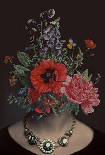 Zelfportret met bloemen 15 (incognito) van toon joosen