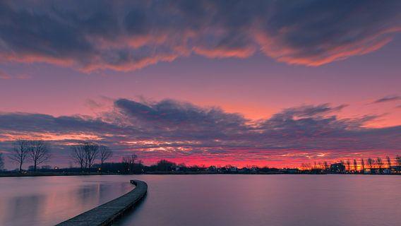Zonsopkomst Zilvermeer, Groningen, Nederland