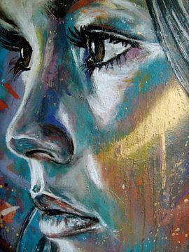 Gezicht van vrouw, my Dreamy Girl van David Walker van Atelier Liesjes