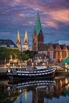 Abend in Bremen von Michael Abid