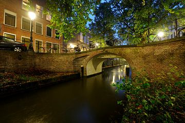 Magdalenabrug over de Nieuwegracht in Utrecht von Donker Utrecht
