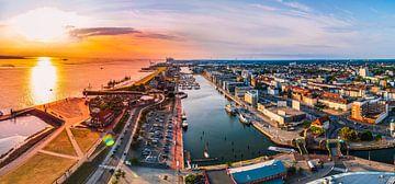 Bremerhaven met zonsondergang van Mustafa Kurnaz