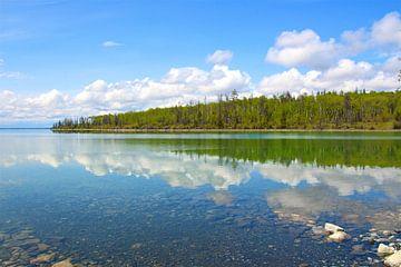 Spiegelbeeld in het meer van Sabine DG