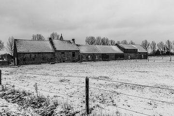 Schwarz und Weiß Schnee Landschaft von Stefaan Tanghe