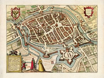 Plattegrond Groningen - 1577
