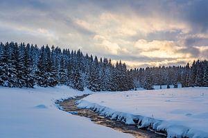 Winterlandschap in het Erzgebergte van Daniela Beyer