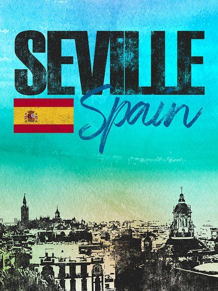 Sevilla Spanje van Printed Artings