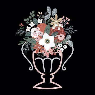 Vintage bloemen van Jacob von Sternberg