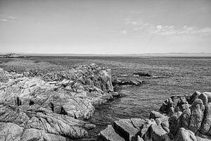 Rotsen in de grote Oceaan - Zwart / Wit  (E)