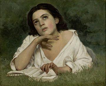 Almeida Júnior, Jonge vrouw met boek, van Atelier Liesjes