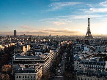 Vue de Paris avec la tour Eiffel sur Martijn Joosse