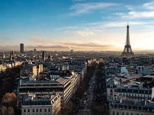 Uitzicht op Parijs met de Eiffeltoren