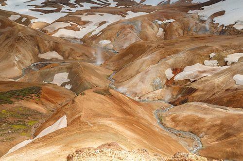 Kerlingarfjöll het binnenland van IJsland van