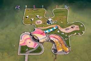 Luchtfoto Speeleiland Maarsseveense Plassen