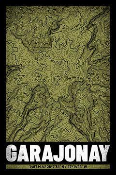 Garajonay | Kaart Topografie (Grunge) van ViaMapia