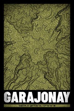 Garajonay | Topographie de la carte (Grunge) sur ViaMapia