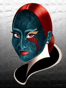 Blauw En Rood van Ton van Hummel (Alias HUVANTO)