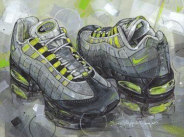 Nike Air Max 95 OG Neon Malerei von Jos Hoppenbrouwers