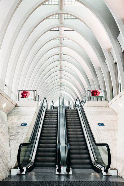 Stairs to the train van Wim van D
